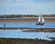 Fishing and sailing on the Alvor Estuary